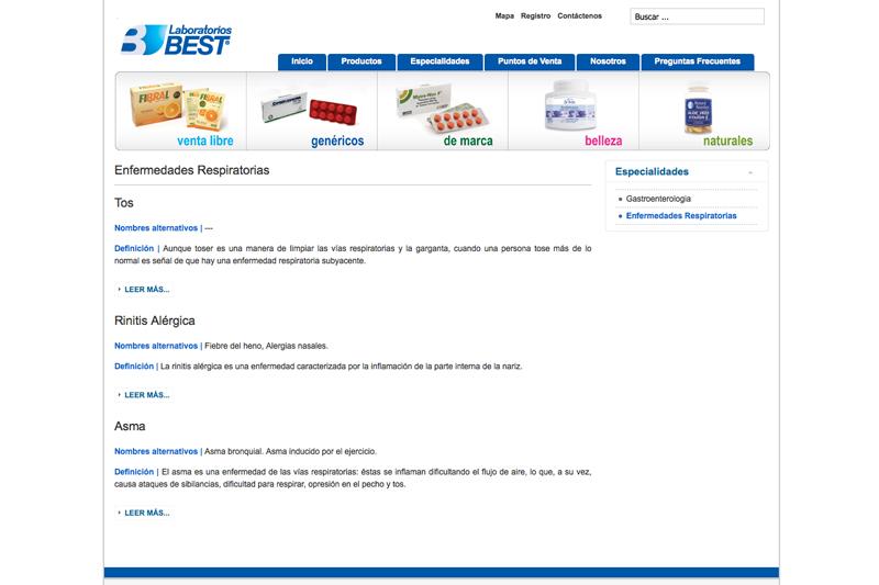 Laboratorios Best web