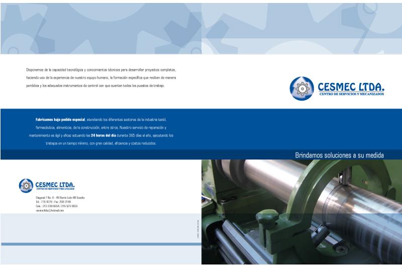 Cesmec Ltda. brochure frente