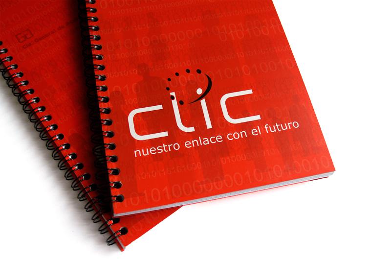 clic montaje en cuaderno
