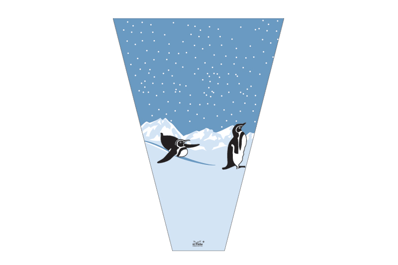 empaque para flor pinguinos
