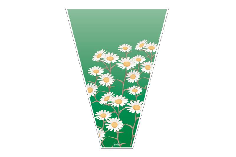 empaque para flor margaritas