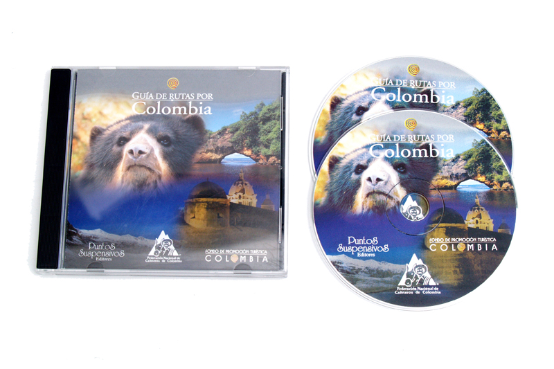 guía de rutas por colombia caja y cd