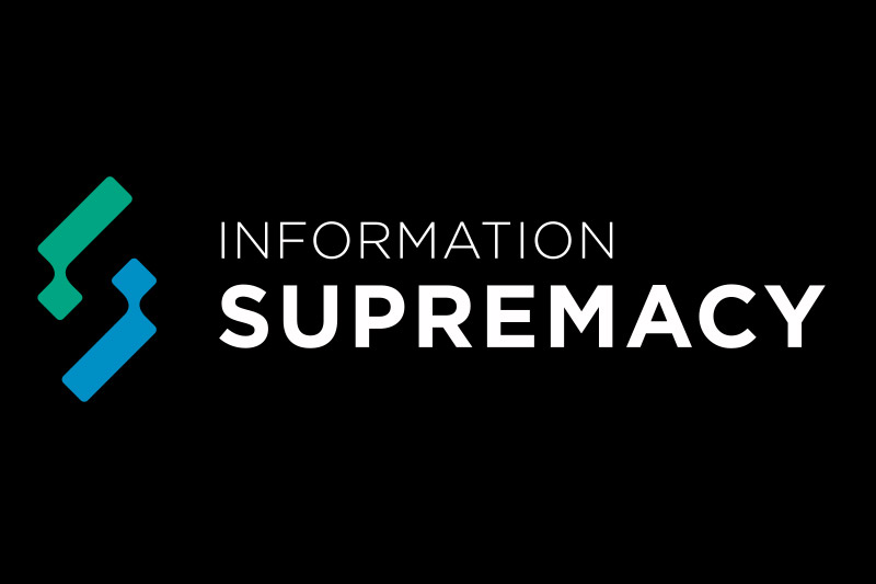 information supremacy logo invertido horizontal