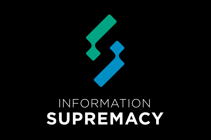 information supremacy logo invertido vertical