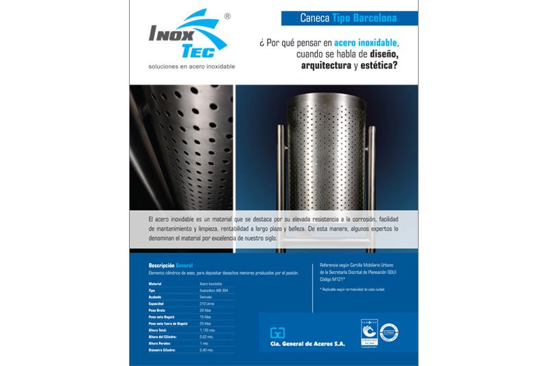 inoxtec brochure caneca barcelona portada
