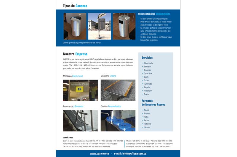 inoxtec brochure caneca barcelona contraportada