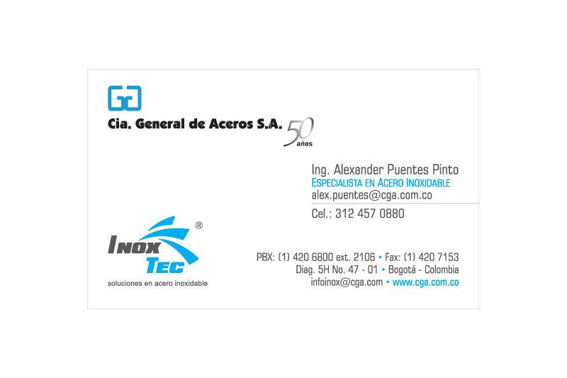inoxtec tarjeta de presentación