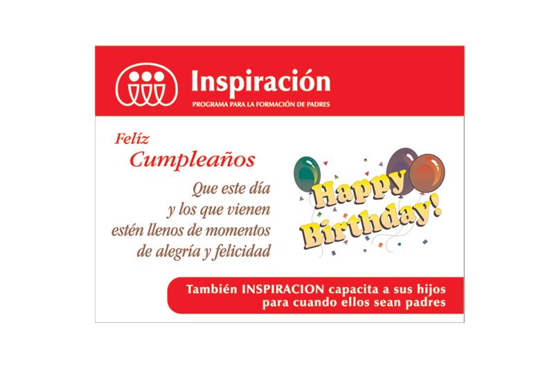 inspiración tarjeta de cumpleaños