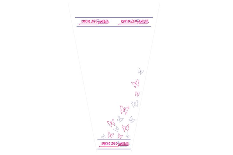 empaque para flor oyameles mariposas