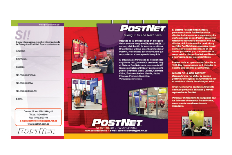 postnet brochure interior
