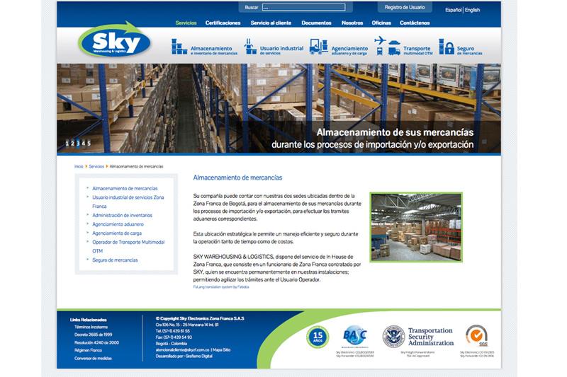 Sky zona franca web