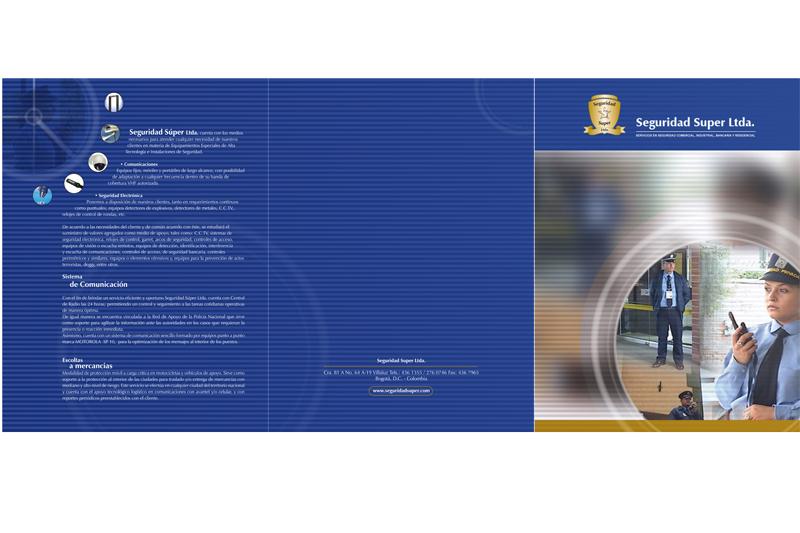 Seguridad super brochure frente