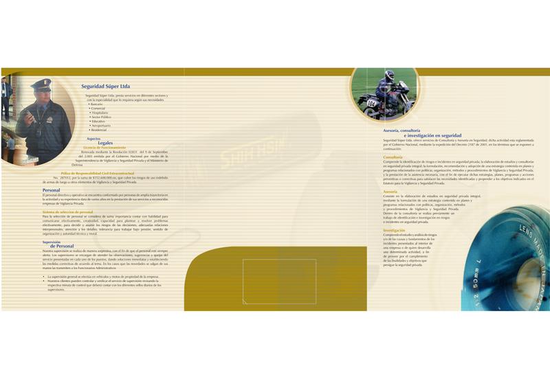 Seguridad super brochure interior