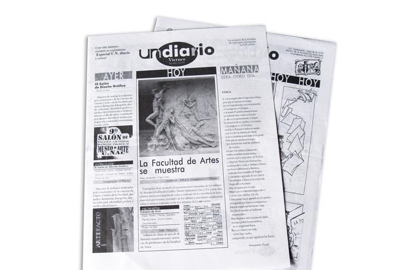 un diario portada periódico