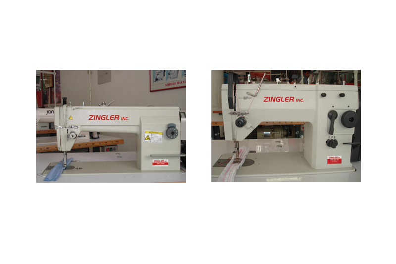 zingler inc montaje logo en máquinas de coser