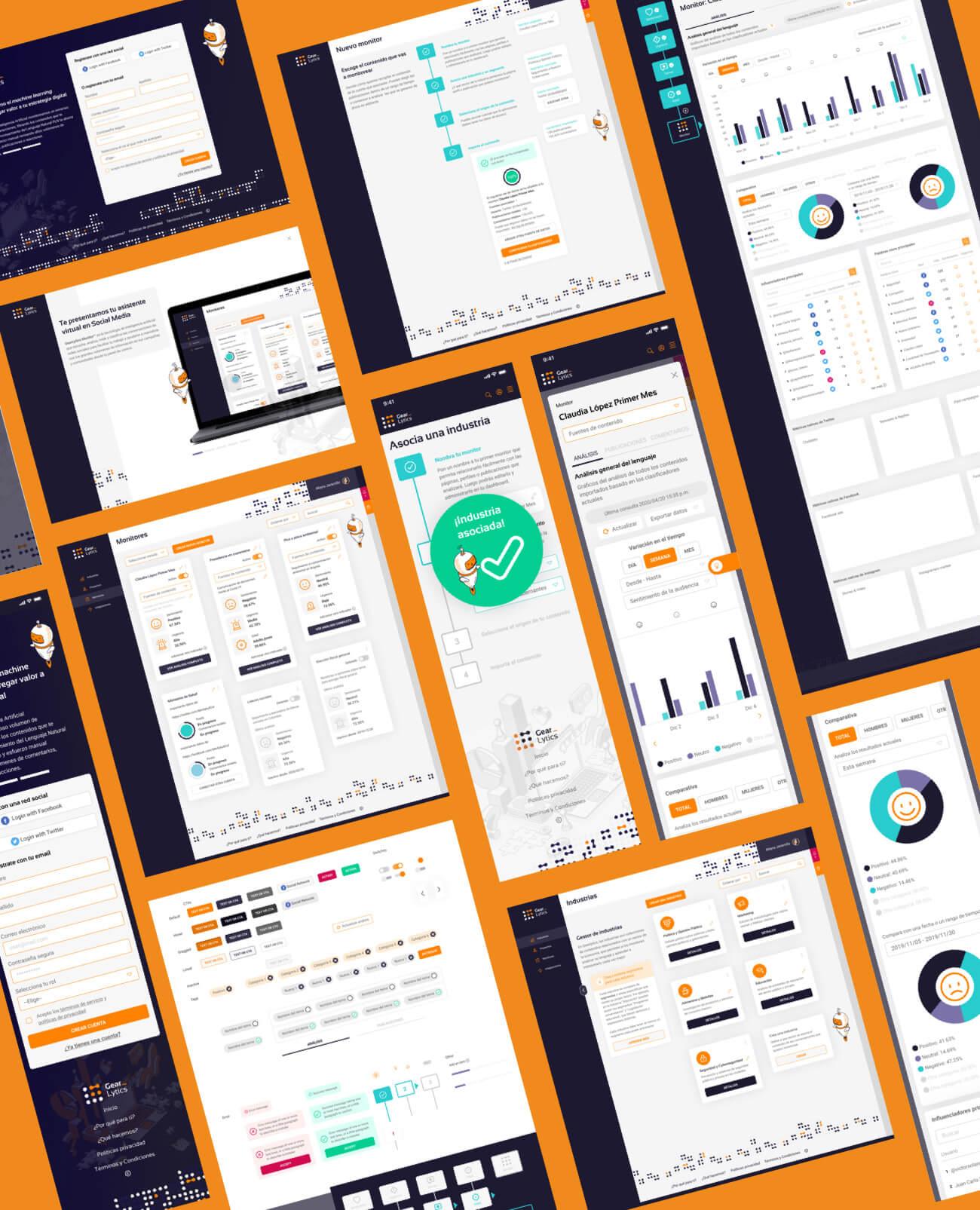 gearlytics collage pantallas