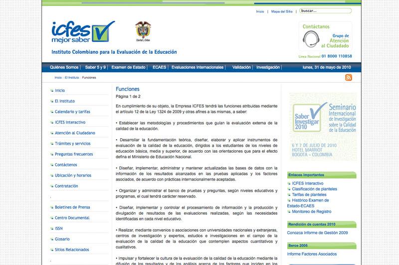 icfes página web